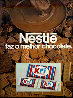propaganda chocolate Kri -1979. 1979.os anos 70; propaganda na década de 70; Brazil in the 70s, história anos 70; Oswaldo Hernandez;