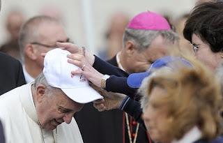 pope in baseball cap