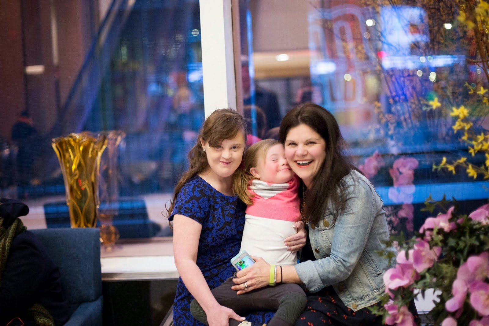 Jamie Brewer and Changing The Face of Beauty Katie Driscoll and Daughter Grace credit Katie Driscoll - Carrie Hammer Role Models Not Runway Models New York Fashion Week - Hello, Handbag