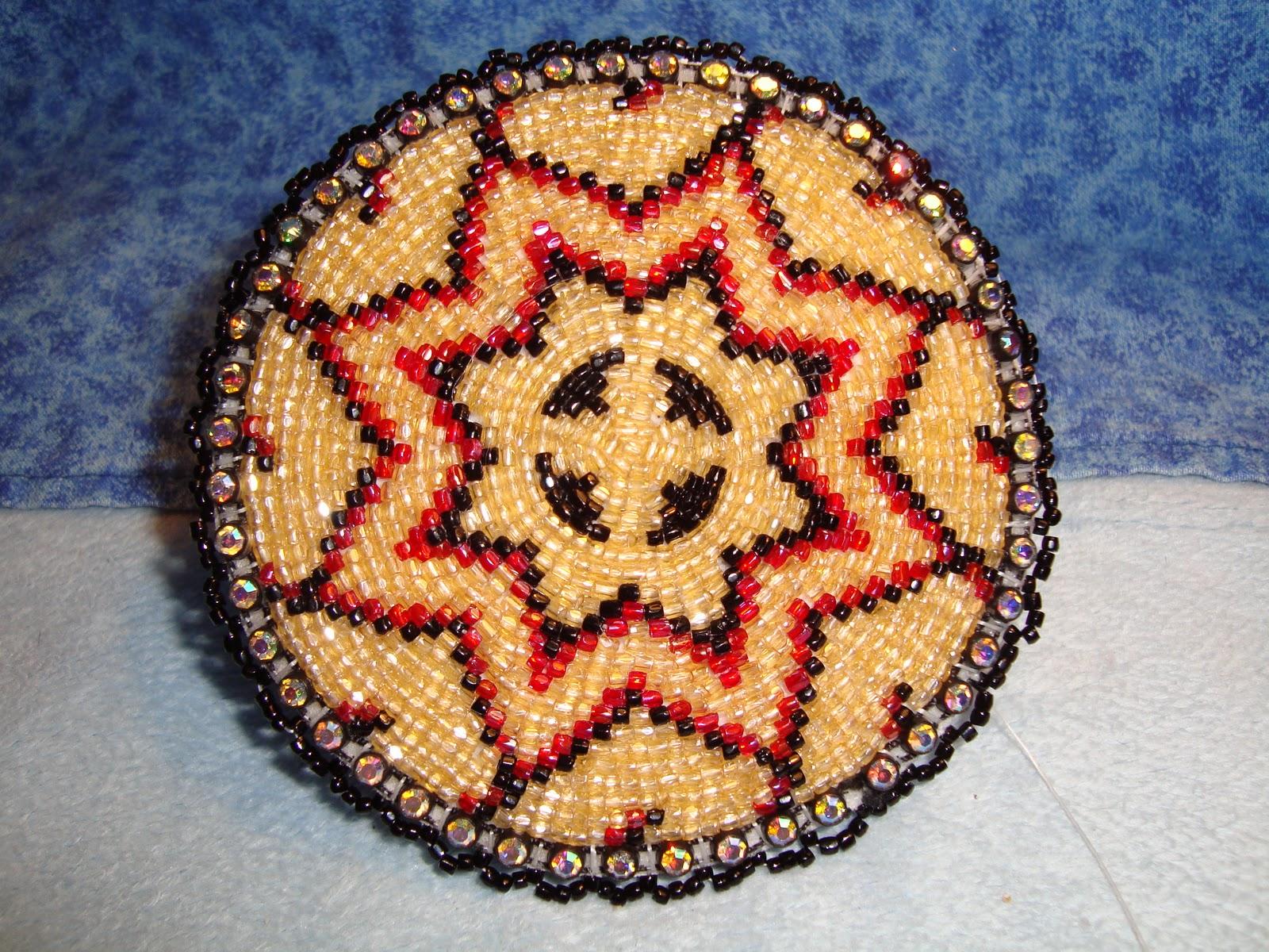 my beadwork beaded rosette