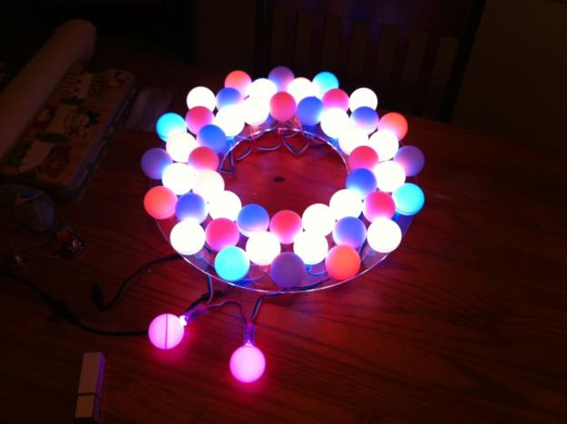 How to recycle recycled crafts from ping pong balls - Ping pong christmas lights ...