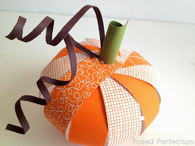Paper Strip Pumpkins