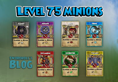 New Wizard101 Level 75 Minions