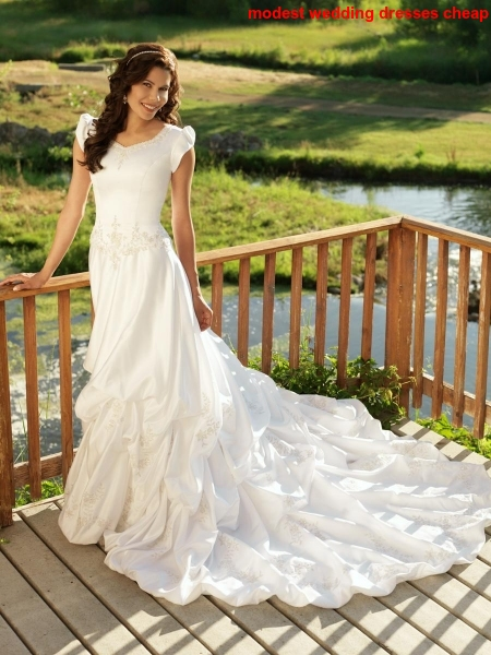 modest wedding dresses cheap