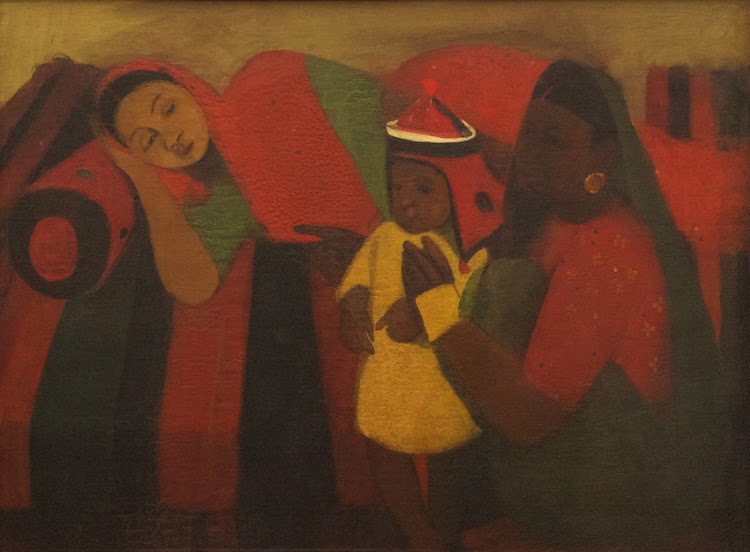 Resting by Amrita Sher-Gil (Oil on Canvas) - 1940