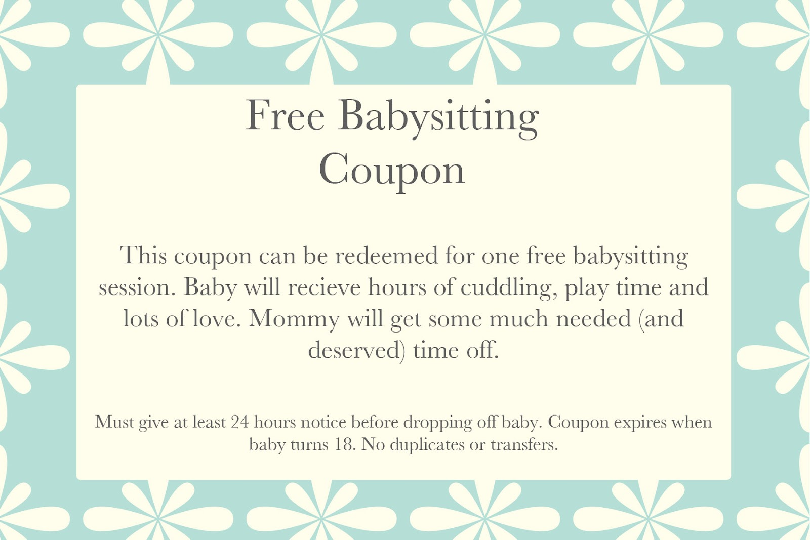 Free printable babysitting coupons templates maxwellsz