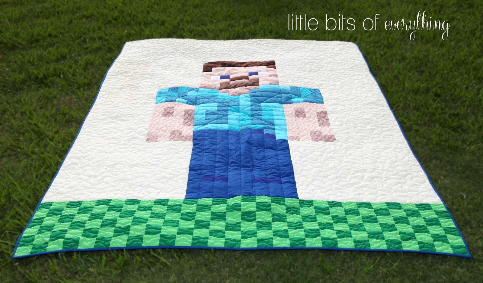 Minecraft Quilt - Steve is Finished! — Little Bits of Everything Inc. : minecraft quilt - Adamdwight.com