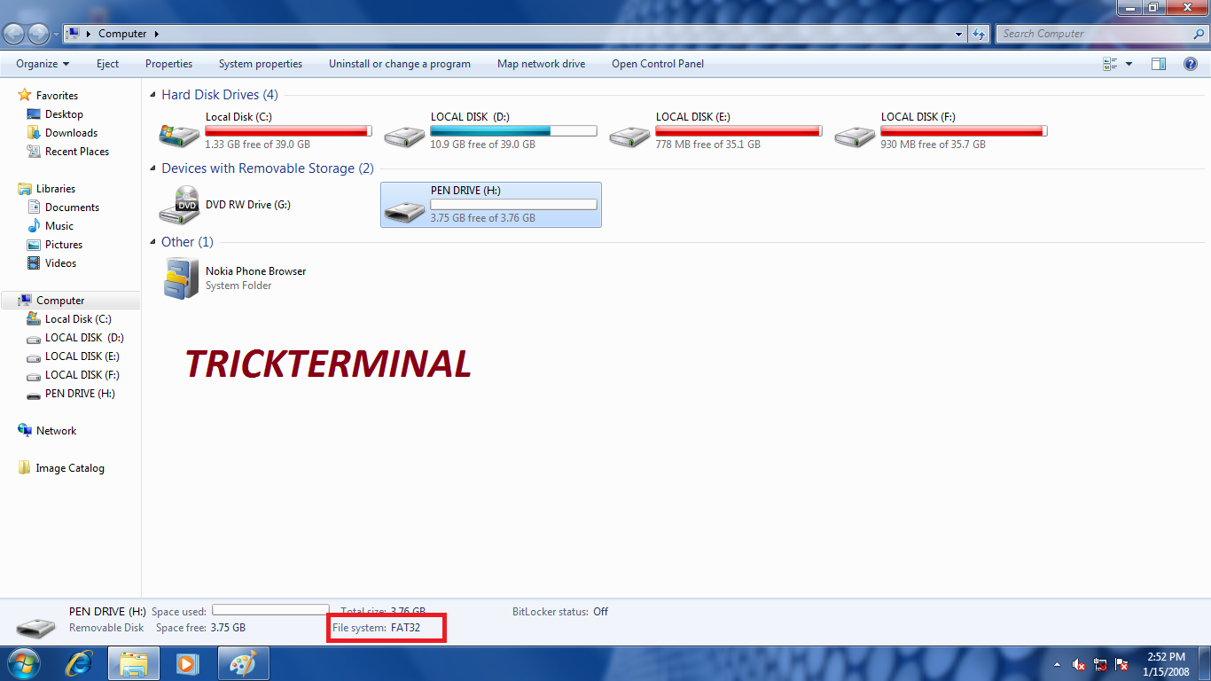 how to format usb pen drive