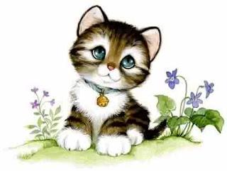 Imagem para decoupage de gatinho