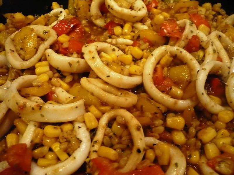 Celle qui cuisinait ou le plaisir de cuisiner ebly saut aux calamars l gumes - Comment cuisiner les calamars ...