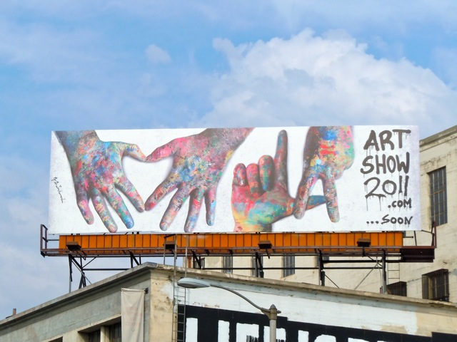LA Art Show 2011 billboard