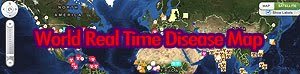 REAL TIME WORLD DISEASE MAP