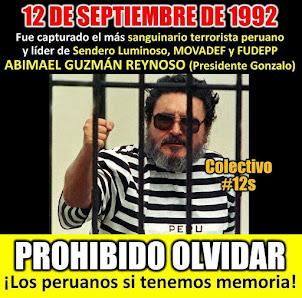 Mes de la captura del genocida terrorista Abimael Guzman