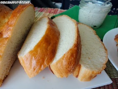 Soft & Chewy French Bread with Garlic Spread