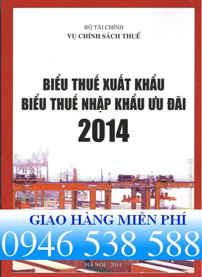 biểu thuế xuất nhập khẩu năm 2014 của vụ chính sách thuế