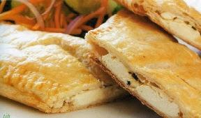 Empanaditas de queso crema al horno