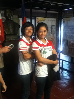 Princess Privado and Danielle Estrada at Bonifacio's Trial House