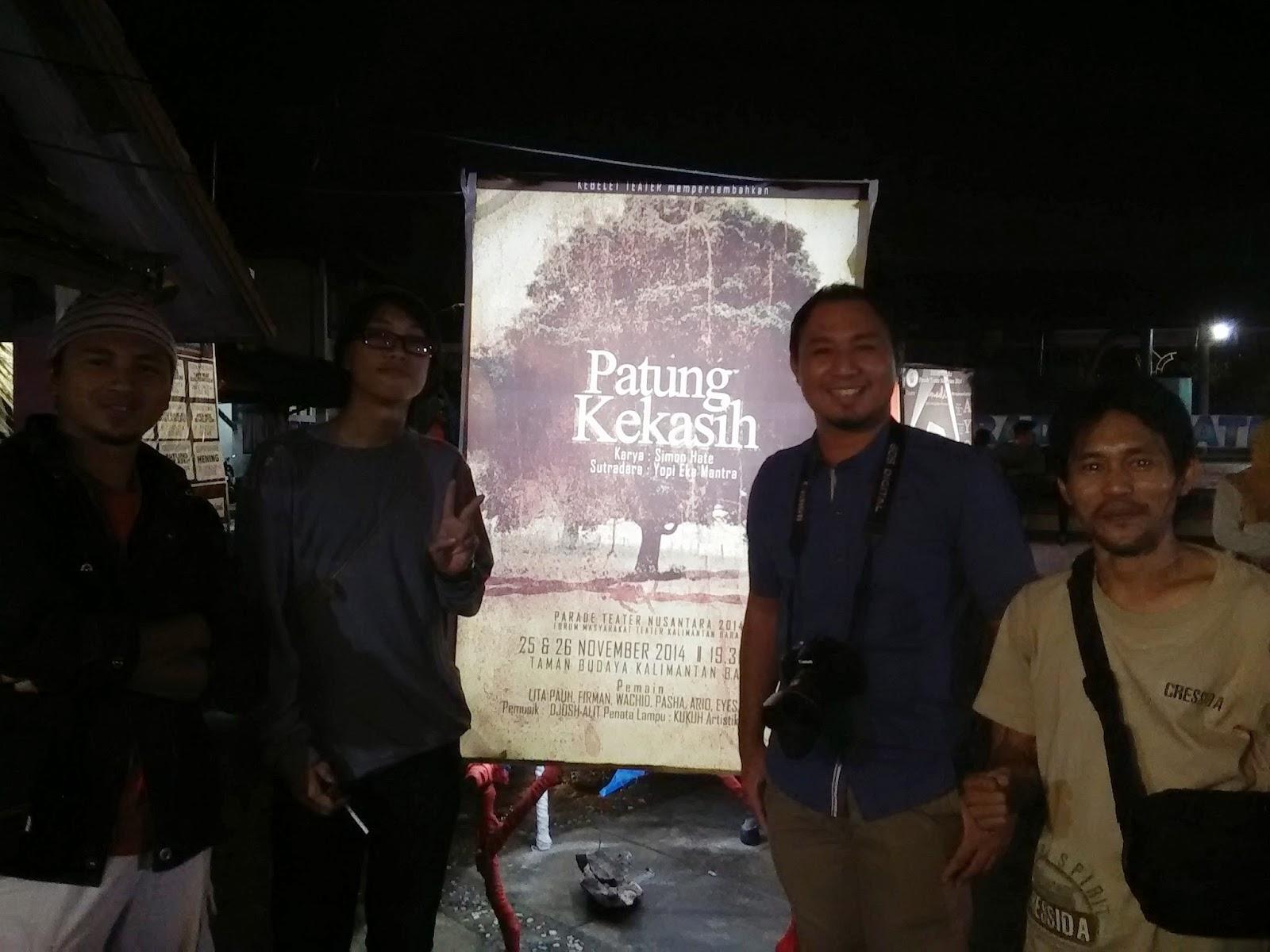 Bersama Ayip, Ketua Panitia Parade Teater Nusantara 2014