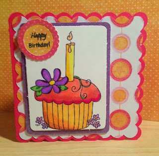 Cricut, Art Philosophy, Bic Mark-It's, Happy Birthday Card