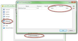Virtual Box Port Forwarding Setup