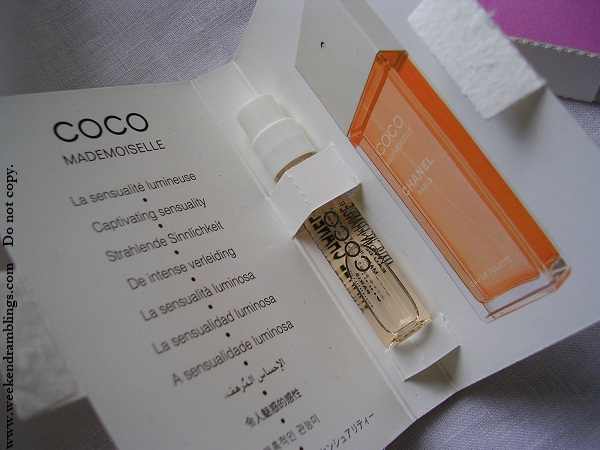 chanel perfume samples