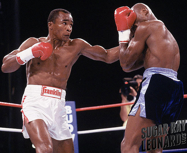 boxing sugar ray leonard vs marvin hagler
