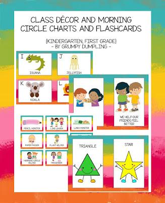 https://www.teacherspayteachers.com/Product/Class-Decor-and-Morning-Circle-Charts-and-Flashcards-Bundle-kindergarten-1922897