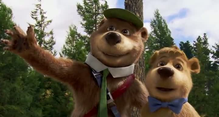 Screen Shot Of Yogi Bear (2010) Dual Audio Movie 300MB small Size PC Movie