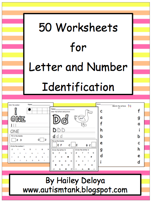 math worksheet : autism tank letter number identification! : Writing Number Words Worksheets Kindergarten