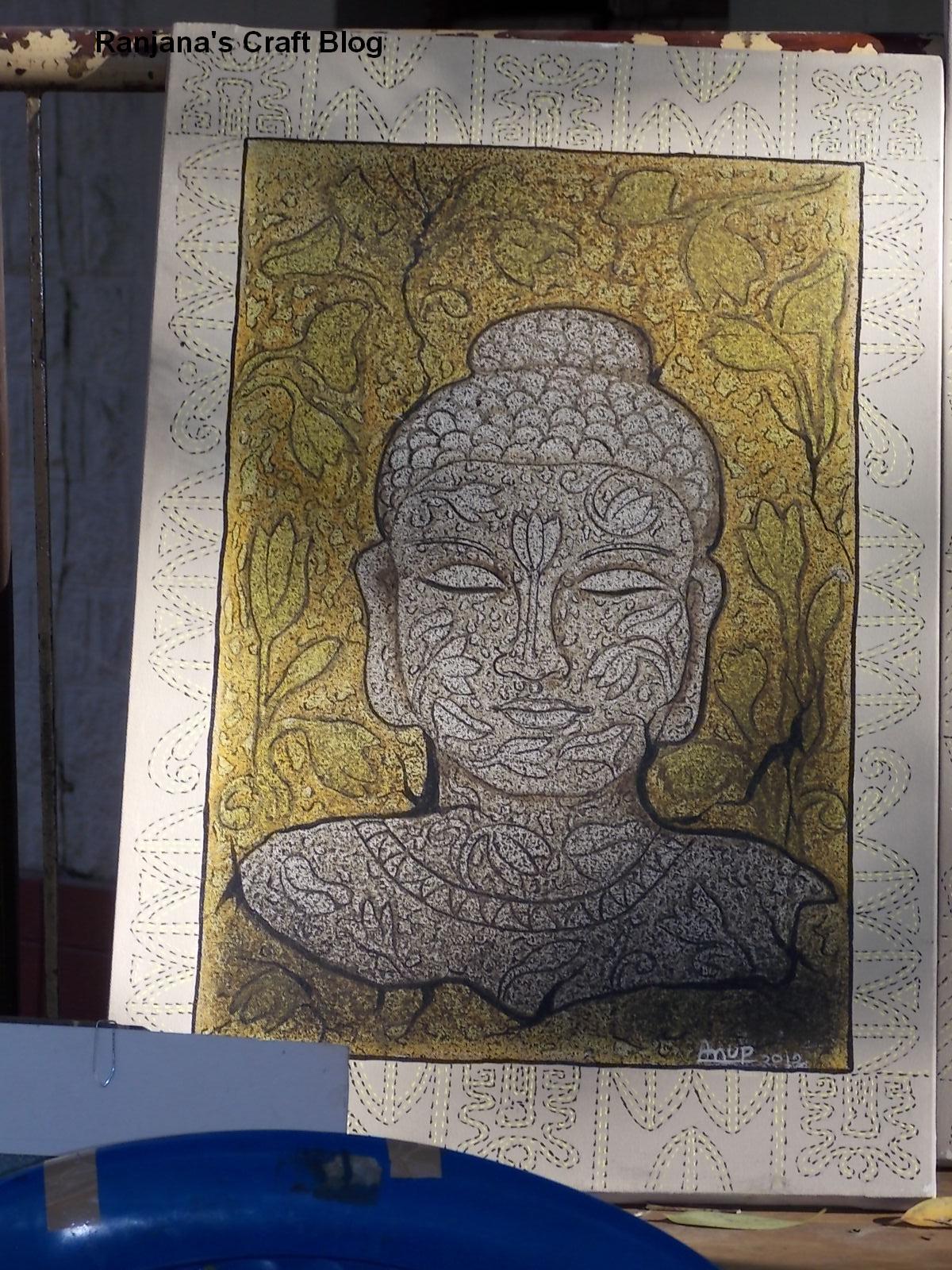 Paintings of buddha at chitrasante 2016 for Buddha mural paintings