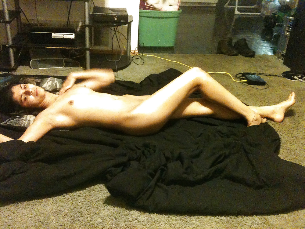 nude of girl and alone in home