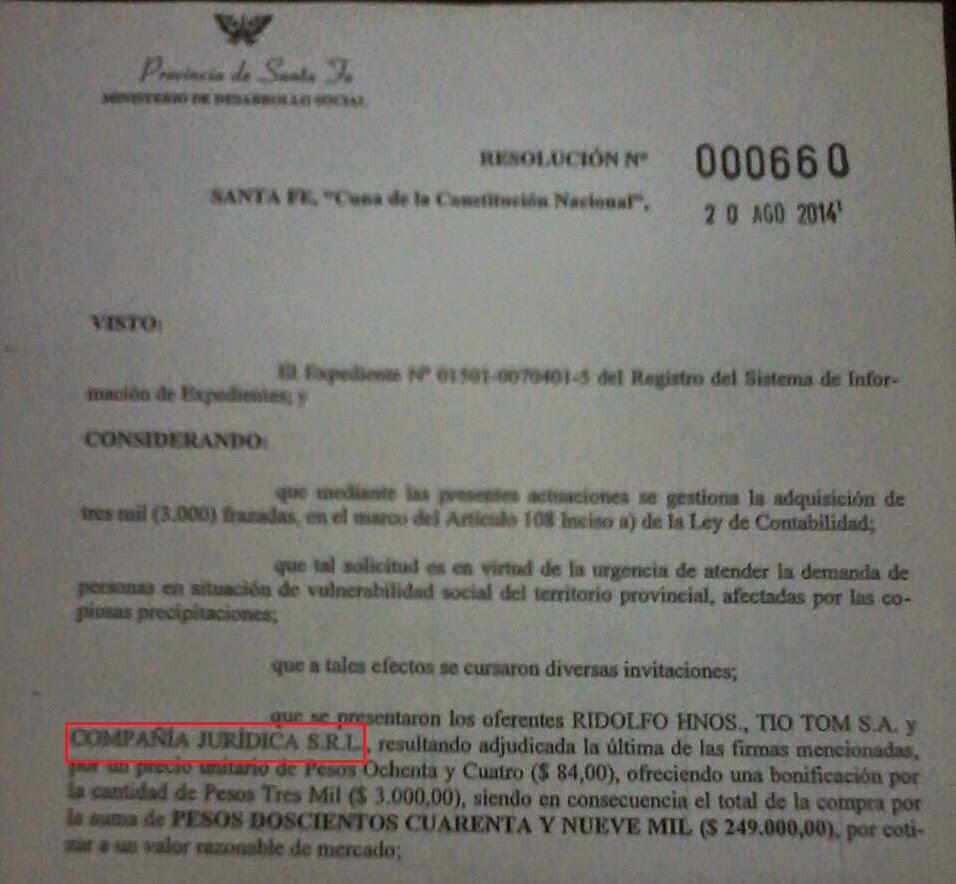 La empresa de un alto funcionario provincial, beneficiada por contratos irregulares.