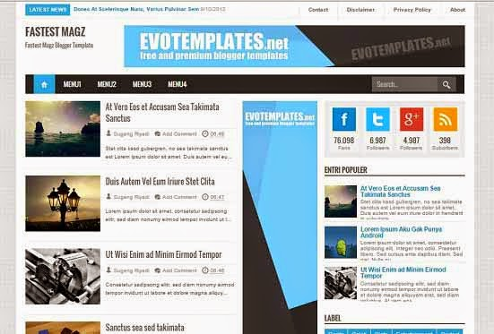 Template SEO Friendly Terbaru Blogger Update 2015