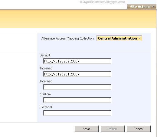 load balance central administration sharepoint 2010
