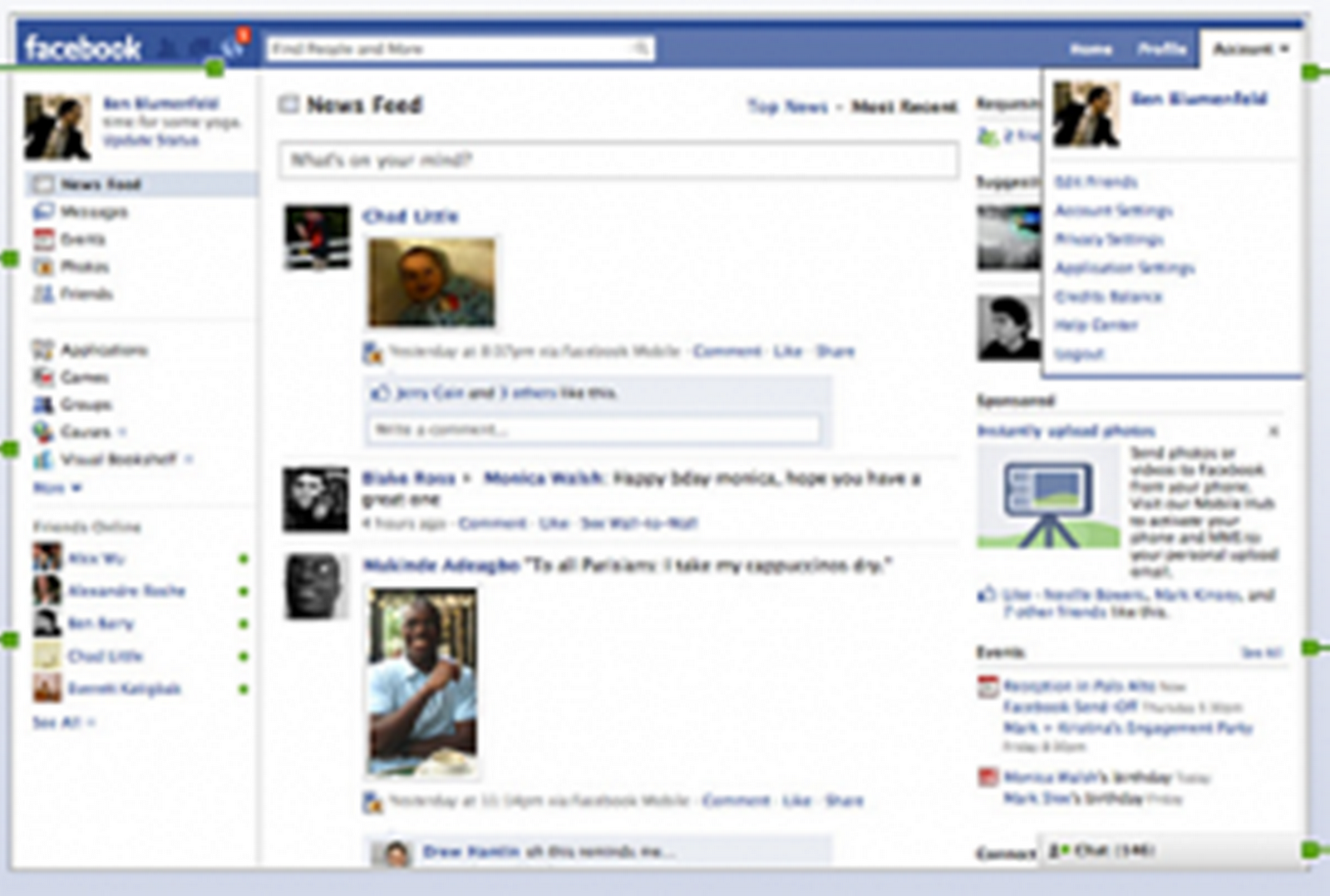 Facebook Template Layout