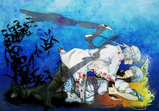 Sakata Gintoki Gintama Anime Blood Stain White Hair HD Wallpaper Desktop PC Background 1318