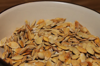 roasted pumpkin/acorn squash/butternut squash seeds