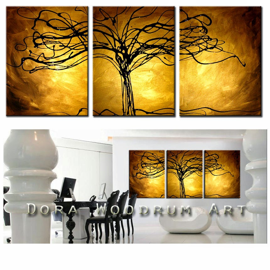 "ORIGINAL ABSTRACT PAINTING ""TREE OF LIFE"" by Artist Dora Woodrum"