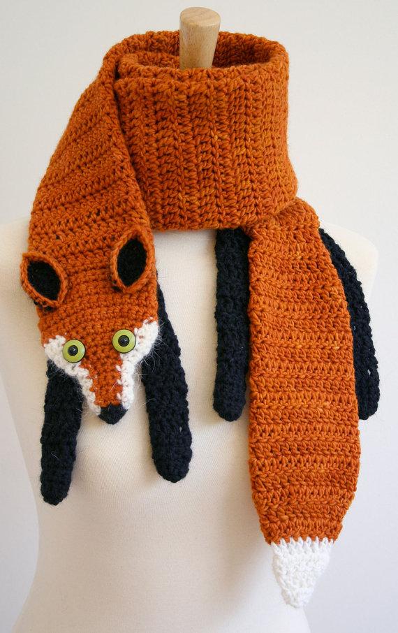 Free Crochet Fox Scarf Pattern