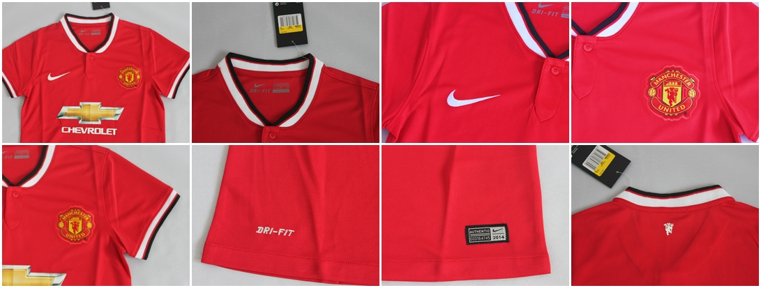 Detail Jersey Ladies Manchester United Home CHEVROLET Musim 14-15