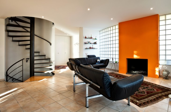 Living room paint color ideas orange combinations for Orange and black living room ideas