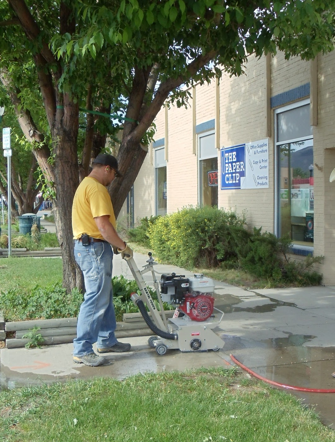Concrete Sidewalk Grinding : City of gunnison happenings sidewalk improvements