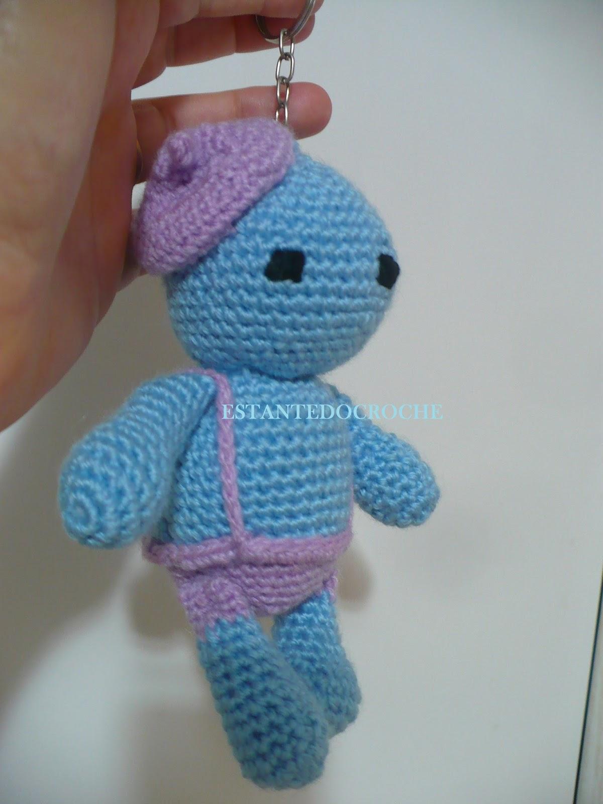 Estante do Croche: CHAVEIRO AMIGURUMI #3C6E8F 1200x1600