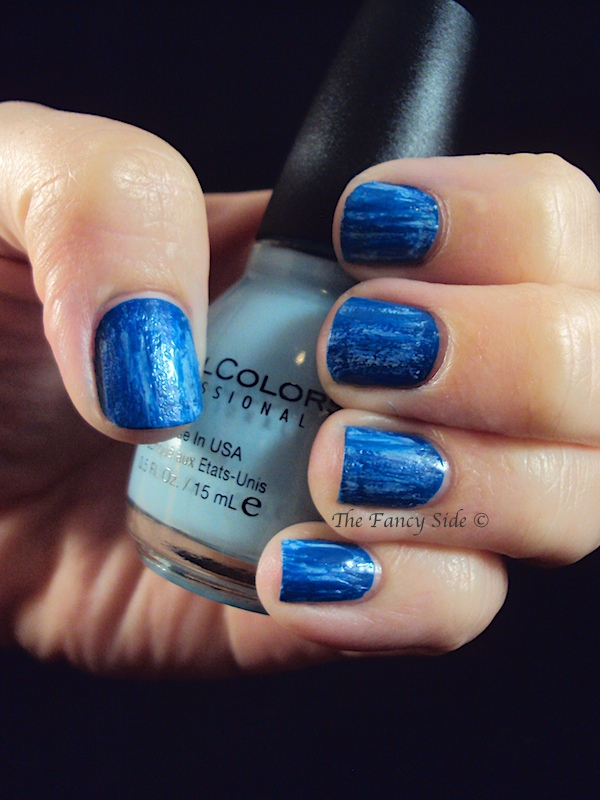 The Fancy Side: Blue Jeans Mani