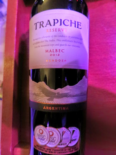 Wine Review of 2012 Trapiche Malbec Reserve from Mendoza, Argentina