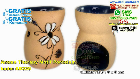 Aroma Therapy Motif Porcelain