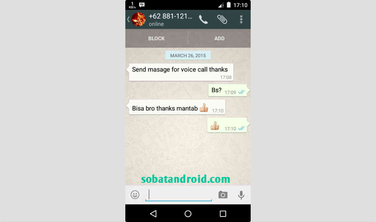 Cara Voice Call WhatsApp Aktif