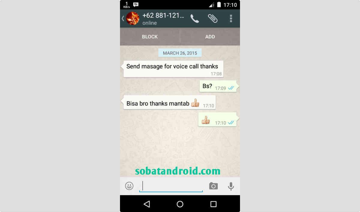 Cara Voice Call WhatsApp Aktif