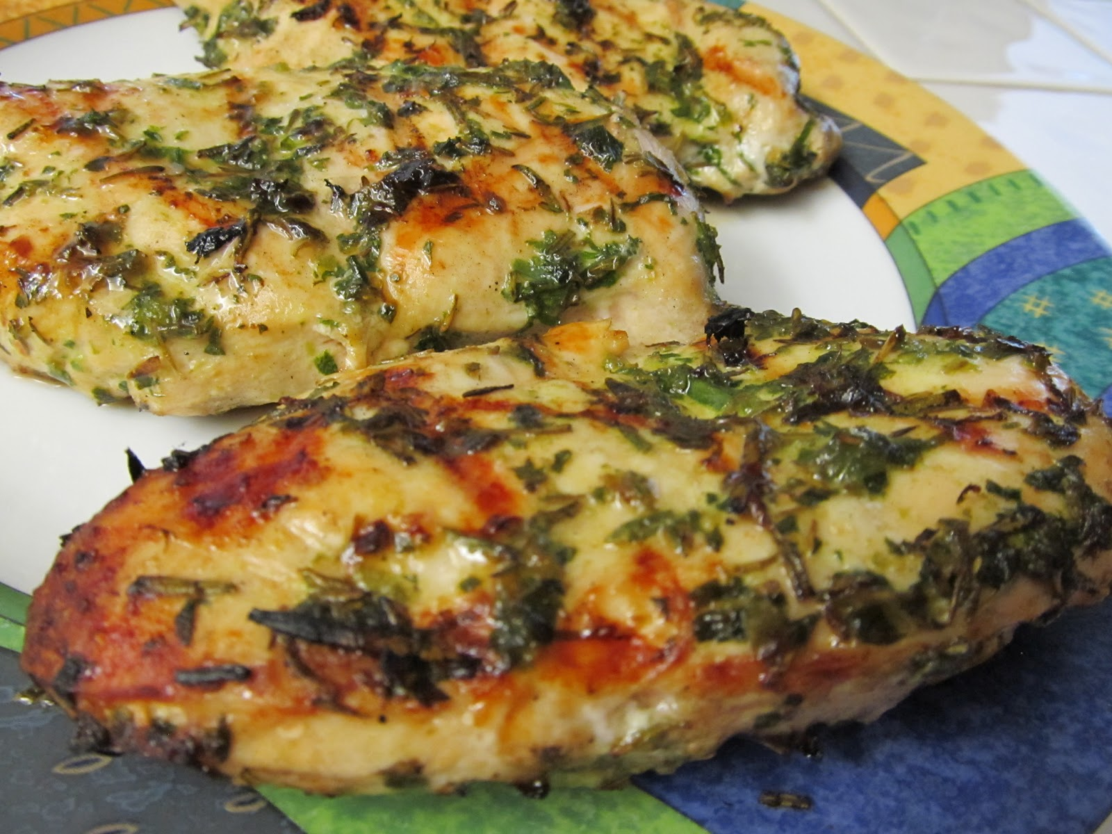 Jenn's Food Journey: Five-Herb Grilled Chicken with Green Aioli