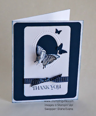 Stampin' Up! Papillon Potpourri Thank You Card